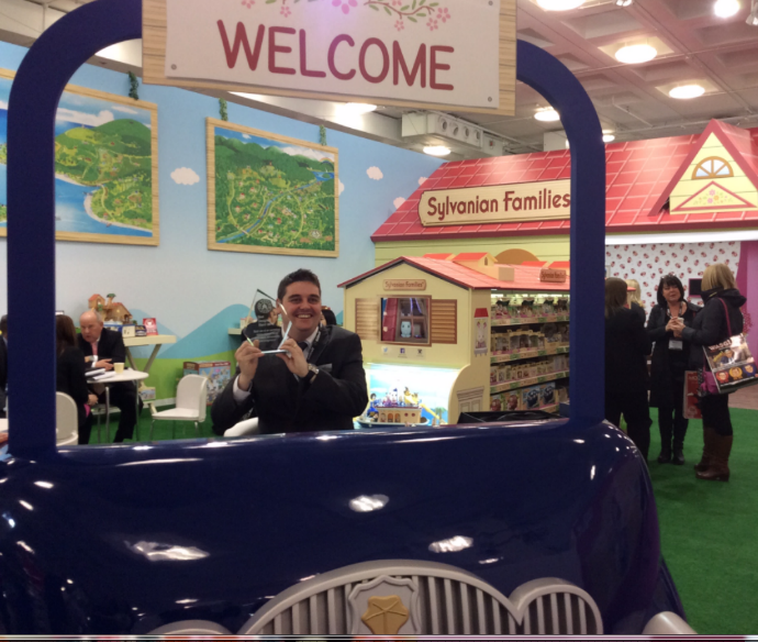 Here's Simon Riggs, EPOCH's Visual Display Manager, showing the Best Stand Design Award