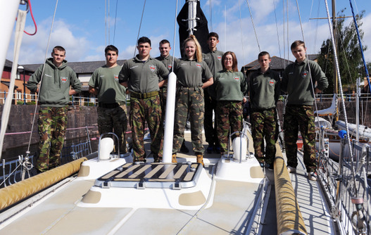 Military hopefuls take part in sailing challenge