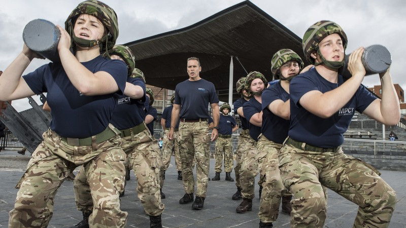 The Senedd plays host to Welsh military students