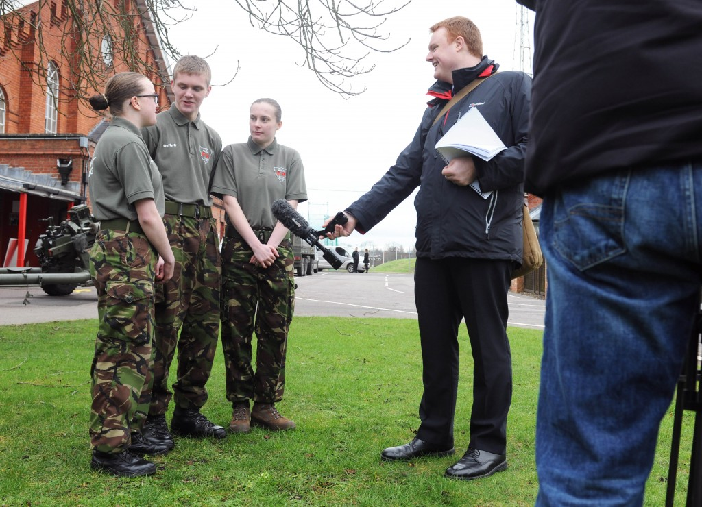 The Duffy triplets' story drew lots of press interest for the Military Preparation College. Photographer: Terry Morris