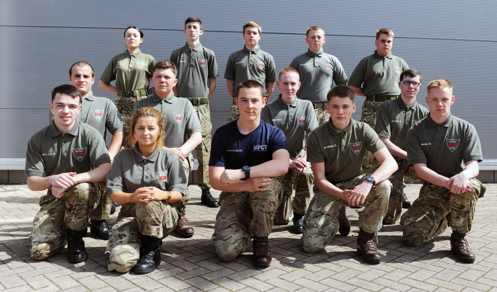 Learners from the Bridgend Military Preparation College