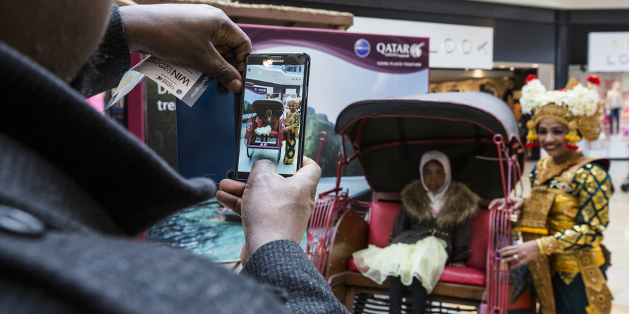 Qatar Airways sensory experience transports shoppers around the globe with BEcause