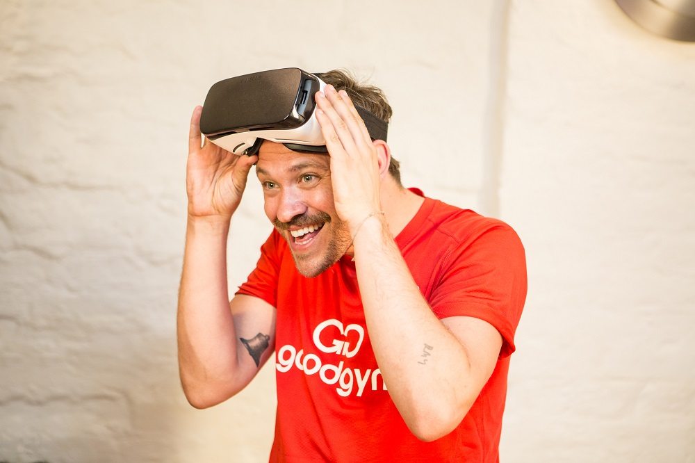 WWF Ambassador Will Young comes 'face to face' with tigers during WWF's Virtual Reality Experience. July 2016.