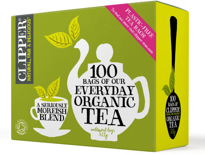 Clipper celebrates world's first plastic-free, non-GM and unbleached tea bag