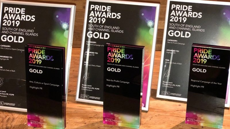 Three Golds for Highlight at CIPR PRide Awards